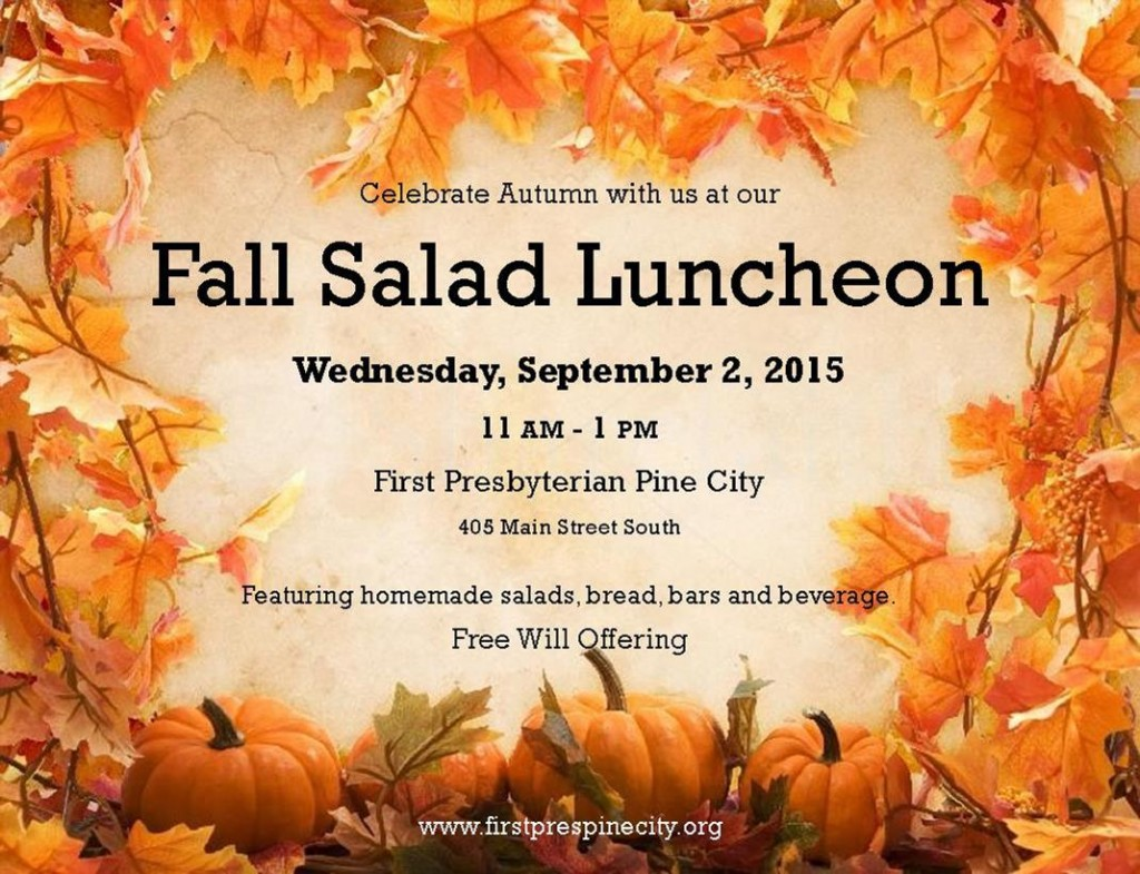 Fall 2015 Salad Luncheon